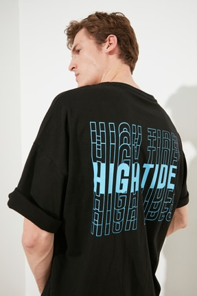 TRENDYOL MAN Siyah Erkek Oversize T-Shirt TMNSS21TS1698
