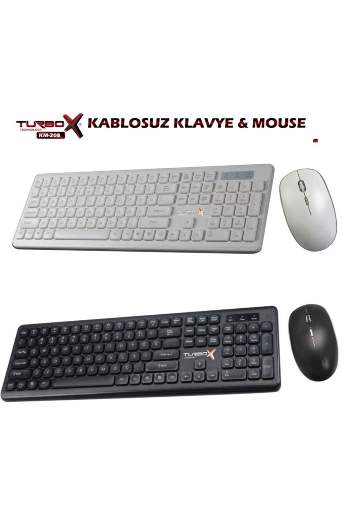 TURBOX Km-20 Wireless Multimedya Q Klavye Mouse Set 2