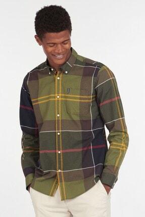 Barbour Erkek Yeşil Kareli Gömlek Tn11
