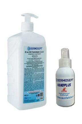 DERMOSEPT Handplus El Ve Cilt Dezenfektanı Antibakteriyel Sıvı 1000 Ml X 100 Ml