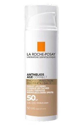 La Roche Posay Anthelios Age Correct Daily Cc Cream Spf50 Tinted 50 ml Leke Ve Kırışıklık Karşıtı