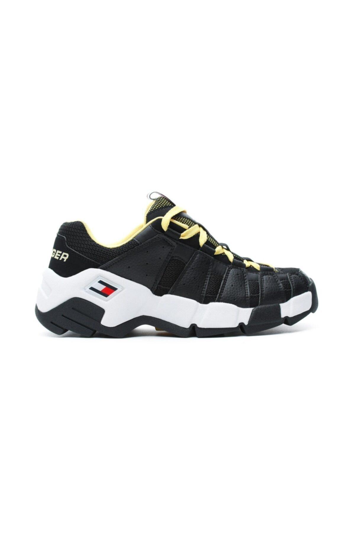 Tommy Hilfiger Erkek Siyah Heritage Chunky Sneaker Ayakkabı 1
