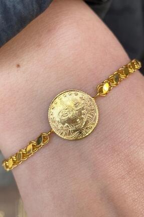 Bayar Gold Kadın Altın Çeyrek Reşatlı Halep Bileklik