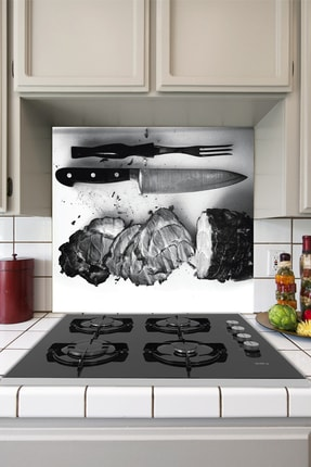 Tilki Dünyası Mutfak Ocağı Arkası Kesilmiş Ekmekler Sticker