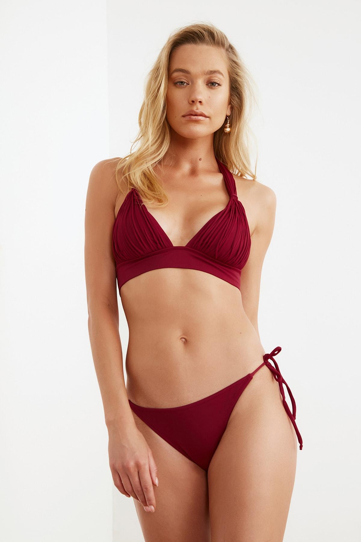 TRENDYOLMİLLA Bağlama Detaylı Düşük Bel Bikini Altı TBESS21BA0170 1