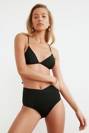 TRENDYOLMİLLA Siyah V Kesim Yüksek Bel Bikini Altı TBESS20BA0248