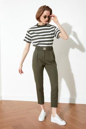TRENDYOLMİLLA Haki Kemerli Pantolon TWOSS21PL0028