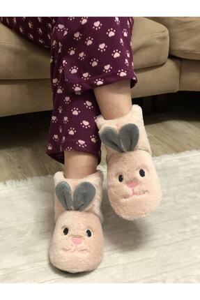 Efolle Kadın Pudra Tavşan Modelli Ev Panduf