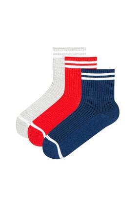 Penti Strıpe Rıb 3lü Soket Çorap
