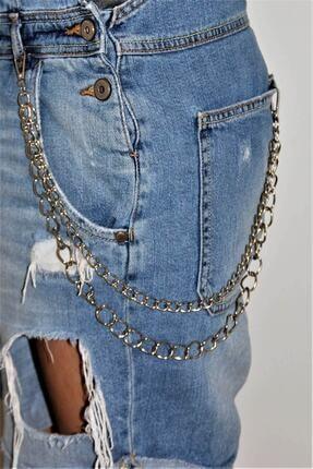 Vilkatek Unisex Gümüş Pantolon Zinciri