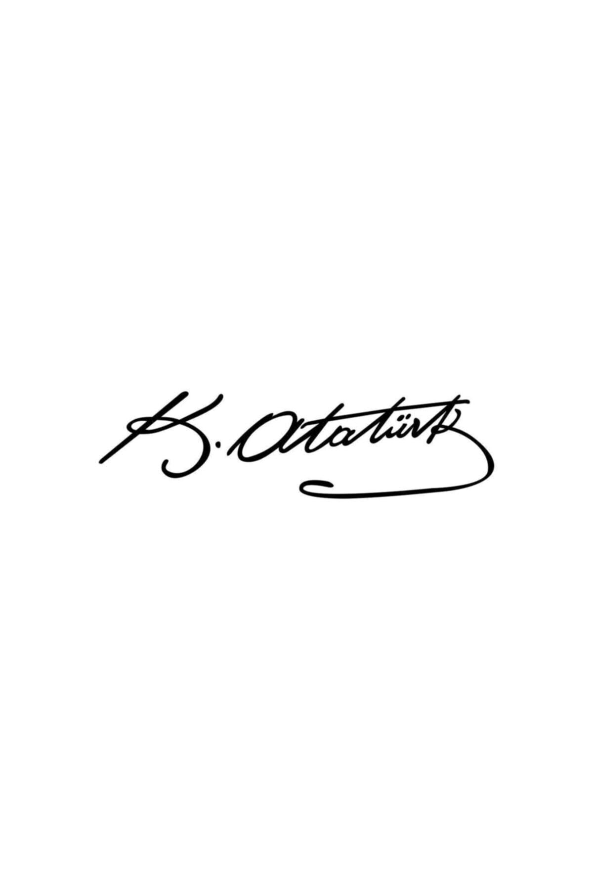 Sticker Masters Kemal Atatürk İmzası Siyah 20 cm Oto Sticker 1