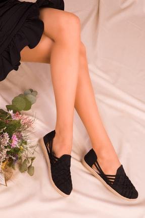 SOHO Siyah Suet Kadın Casual Ayakkabı 14711