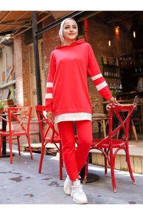 TOFİSA Kadın Kırmızı Ikili Eşofman Takımı -