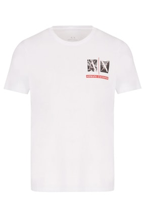 Armani Exchange Erkek % 100 Pamuklu Slim Fit Bisiklet Yaka T Shirt 3kztaa Zja5z 1100