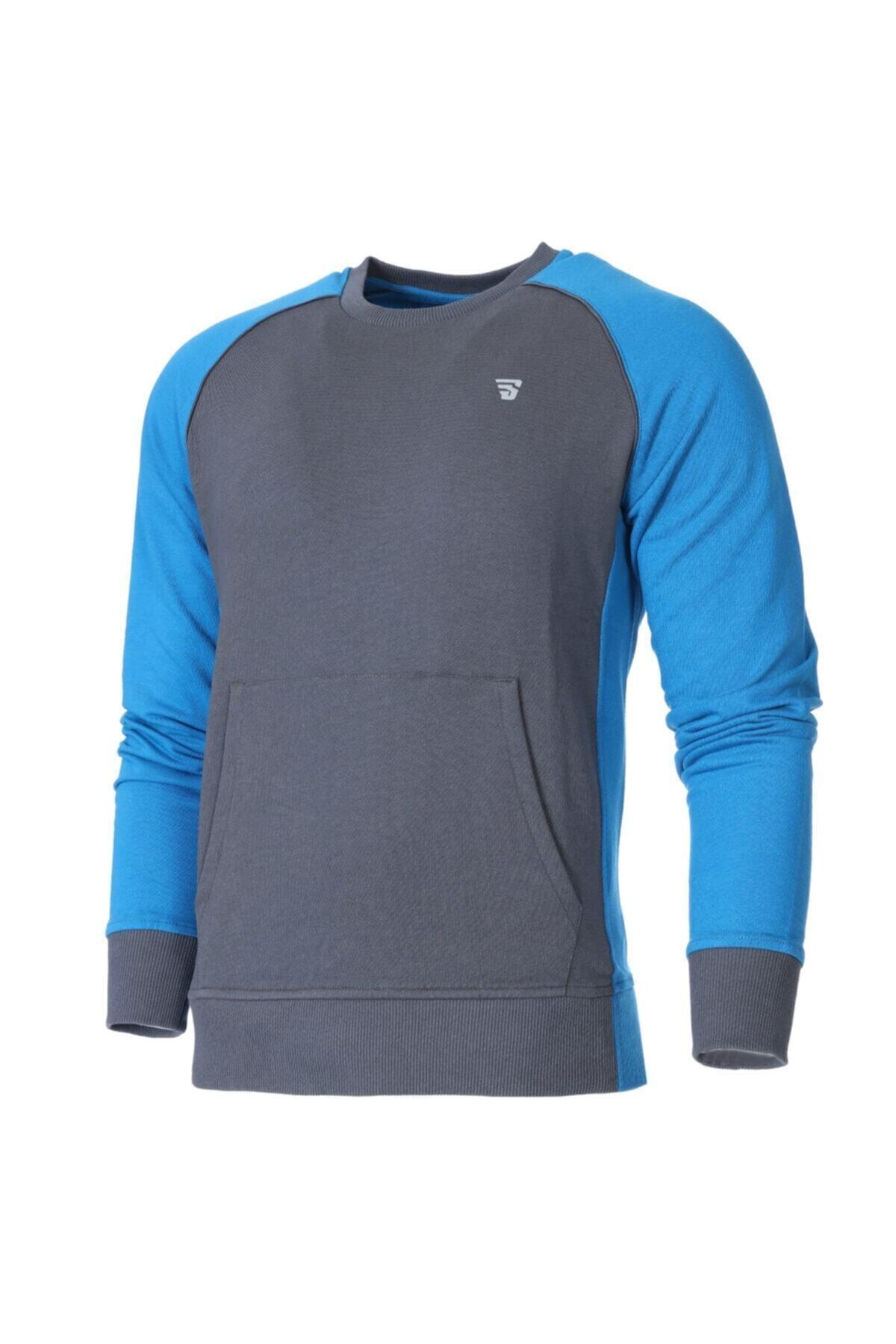 Sportive Erkek Mavi Antrenman Sweatshirt 1