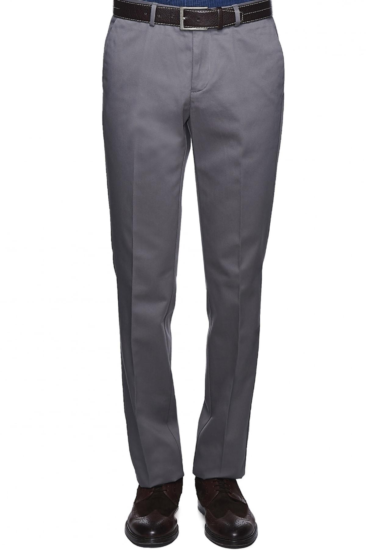 ALTINYILDIZ CLASSICS ERKEK Gri Ütü Gerektirmeyen Non-Iron Slim Fit Pantolon  Fiyatı, Yorumları - TRENDYOL