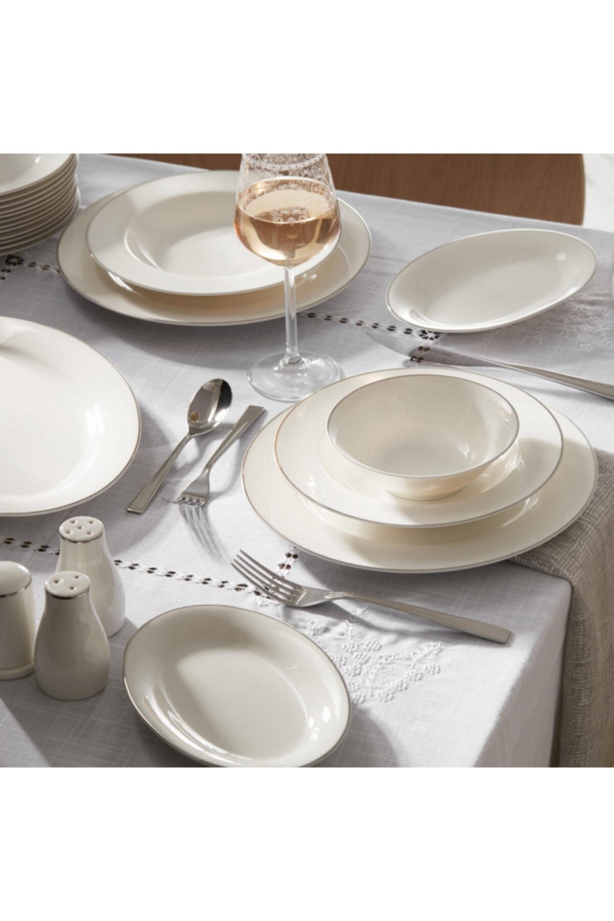 Karaca Lexi Platin 56 Parça 12 Kişilik Yemek Takımı 1