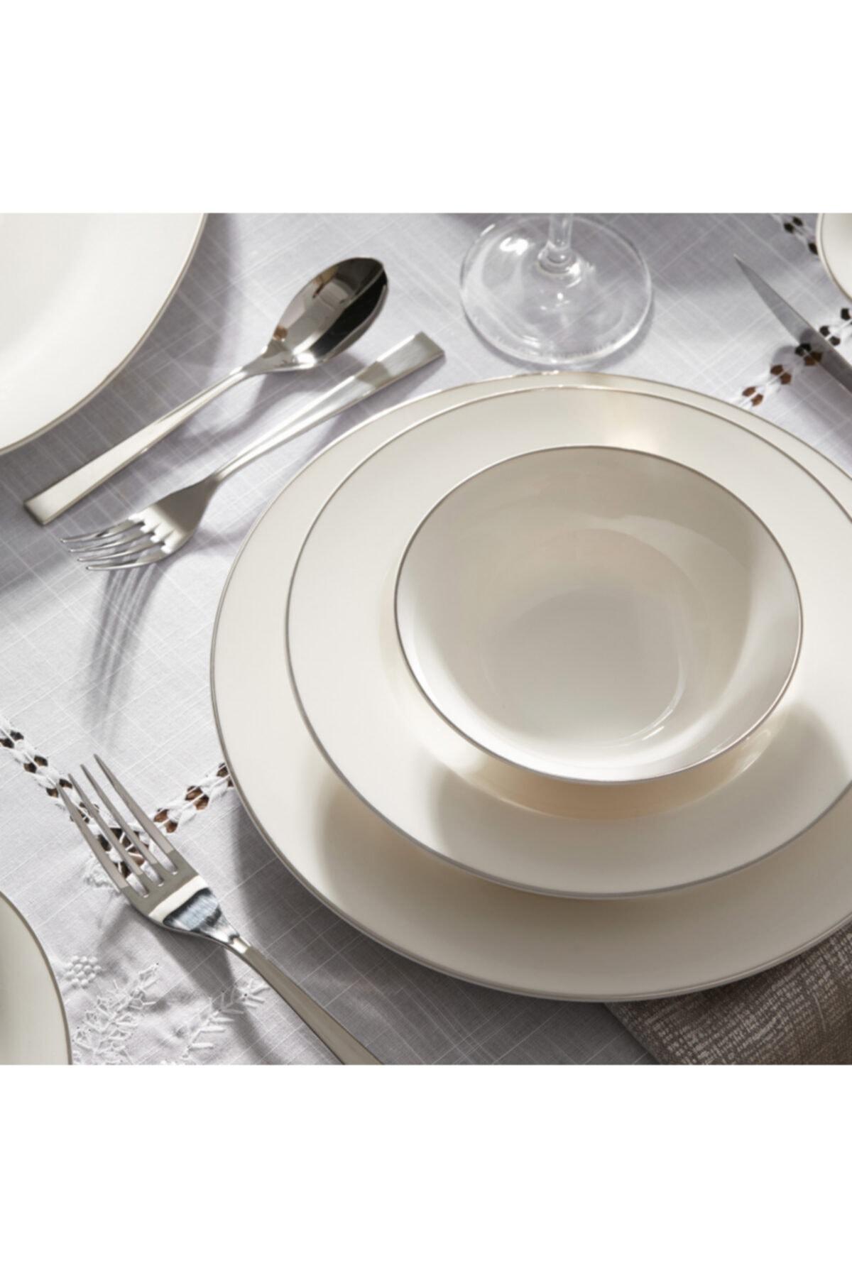 Karaca Lexi Platin 56 Parça 12 Kişilik Yemek Takımı 2