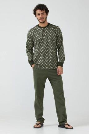 Sementa Erkek Desenli Pijama Takımı - Haki