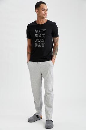 DeFacto Regular Fit Yazı Baskılı Pijama Takımı