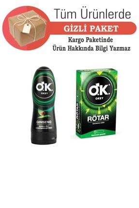 Okey Masaj Jeli & Kayganlaştırıcı Jel Ginseng 200 ml Rötar 10 Lu Prezervatif - Gizli Gönderi