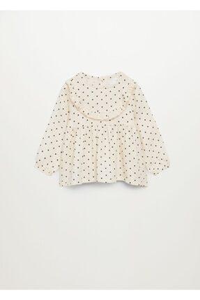 MANGO Baby Kız Bebek Kırık Beyaz Bluz