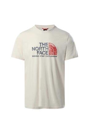 THE NORTH FACE Erkek  Beyaz T-shirt