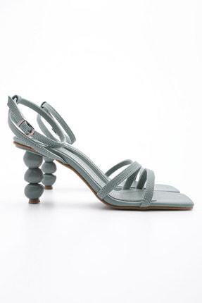 Marjin Kadın Yeşil Topuklu Sandalet Bople