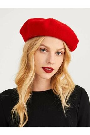 Mathilda Aksesuar Fransız Keçe Bere Ressam Kırmızı