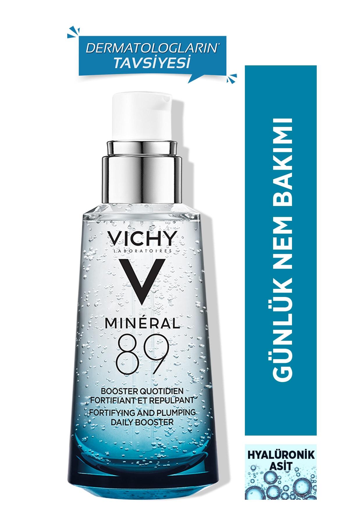 Vichy Mineral 89 Nemlendirici Cilt Serumu Hyalüronik Asit ve Termal Su Cilde Güç ve Nem Veren Bakım 50 ml 1