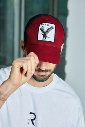 Sateen Men Erkek Bordo Nakışlı Şapka