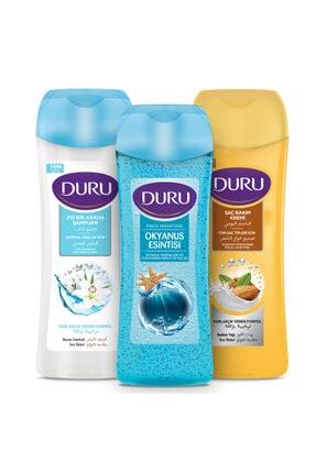 Duru Normal Saçlar Için Şampuan 600ml Ve Saç Kremi 600ml Ve Fresh Sensations Duş Jeli 450ml