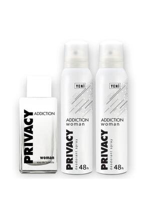 Privacy Addiction Edt 100 ml Kadın Parfüm + 2x150ml Deodorant Set 1742751043423