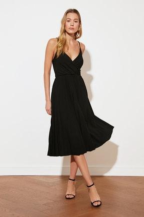 TRENDYOLMİLLA Siyah Örme Elbise TWOSS20EL2729