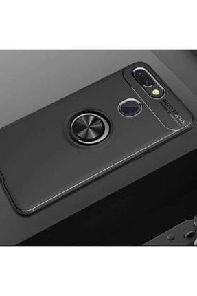 Xiaomi Mi 8 Lite Kılıf Yüzüklü Standlı Tam Koruma Karbon Silikon Ravel Model