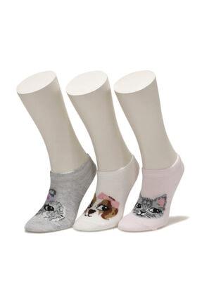 I COOL ANIMALHEAD 3 LU PTK-G 1FX Çok Renkli Kız Çocuk Çorap 101012061