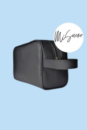 Mi Sueno Erkek 'ORTA BOY' (20x16x10) Siyah Tıraş Çantası, Seyahat Çantası, Kozmetik Çantası