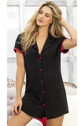 Doremi Kadın Siyah Gömlek Gecelik