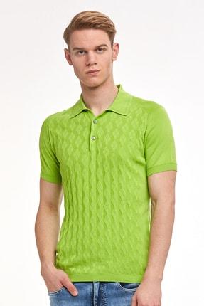 Hemington Desenli Giza Pamuk Yeşil Triko Polo