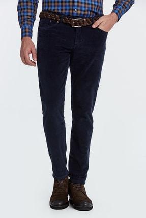 Hemington Erkek  Slim Fit Lacivert Kadife Pantolon