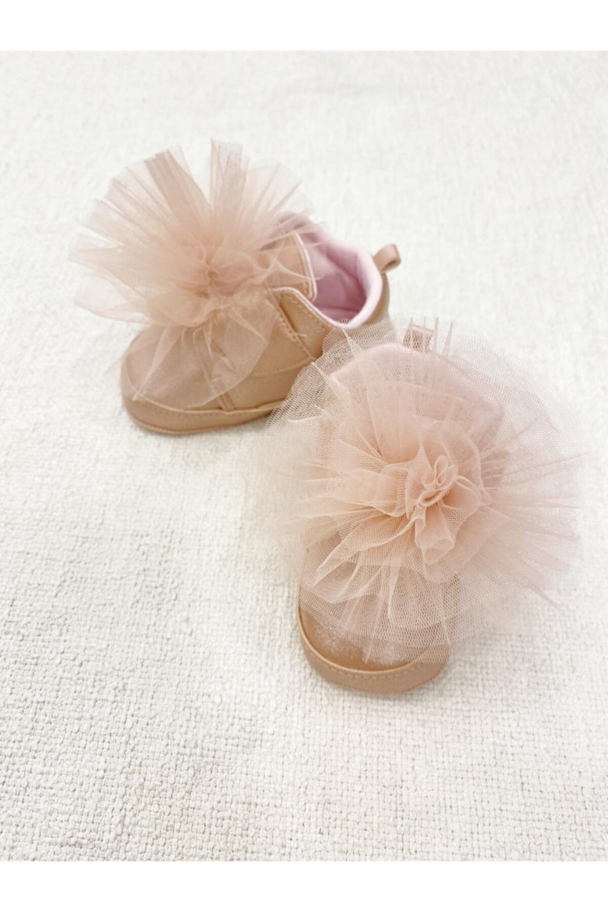 Funny Baby Kız Bebek Pudra Tül Ponpon Detaylı Ayakkabı 1