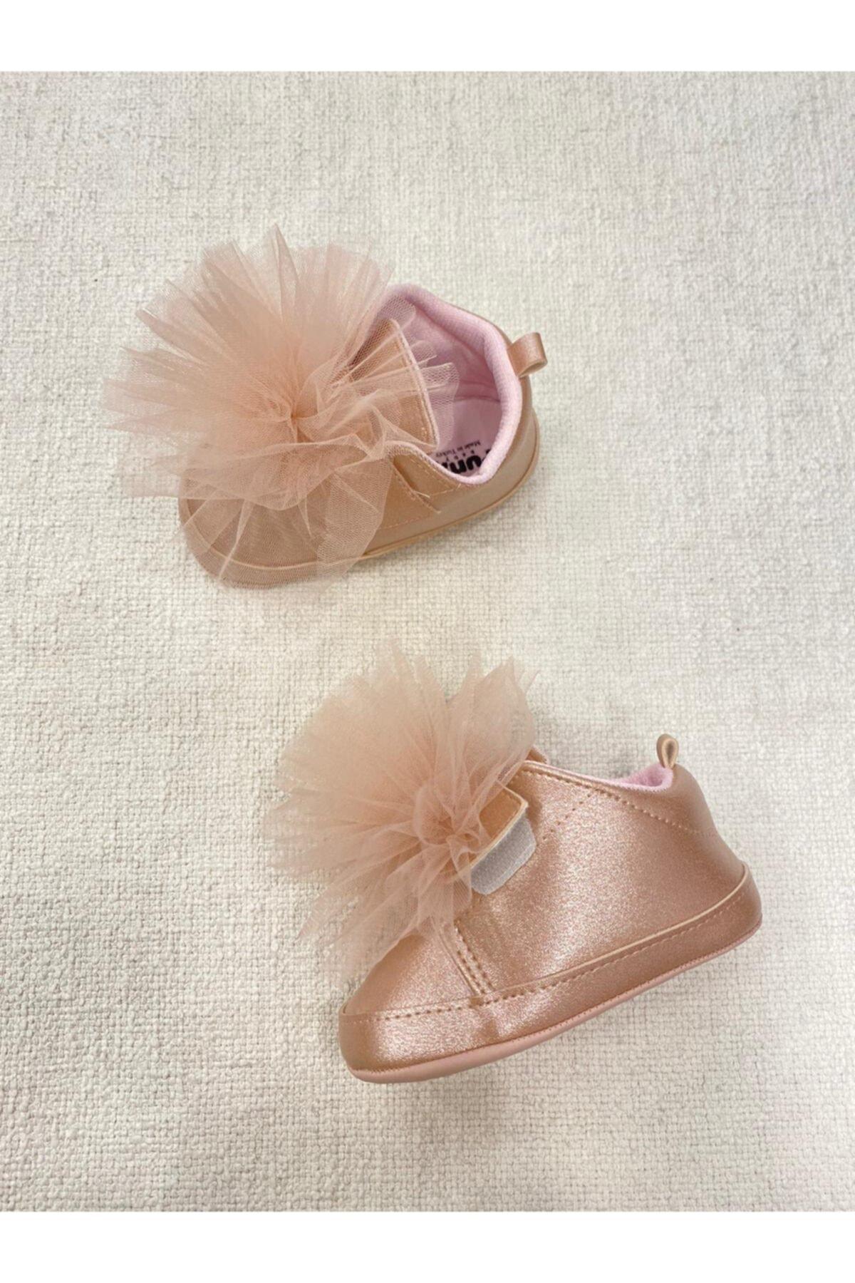 Funny Baby Kız Bebek Pudra Tül Ponpon Detaylı Ayakkabı 2
