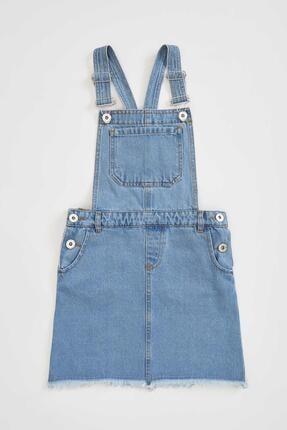 DeFacto Kız Çocuk Askılı Jean Elbise