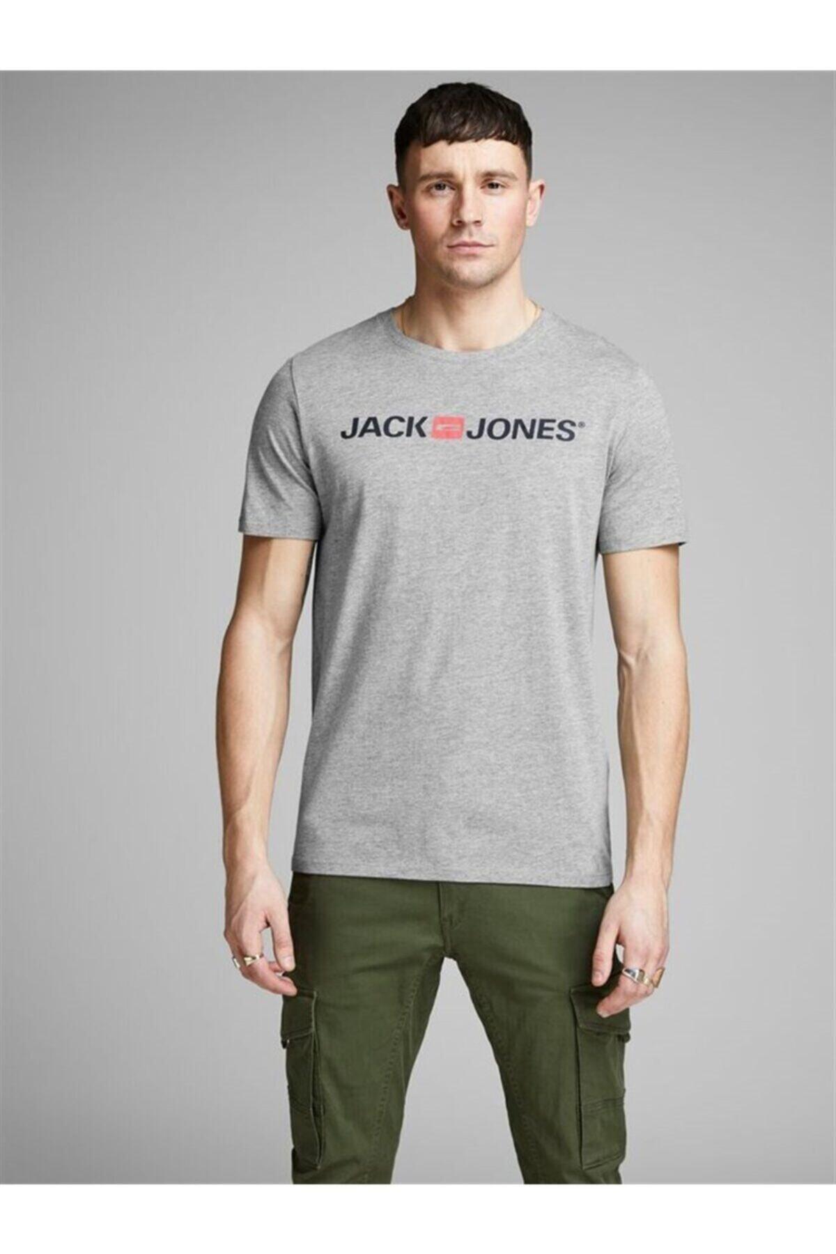 Jack & Jones Jack Jones Logo Crew Neck Noos Erkek Tshirt 12137126sg 1