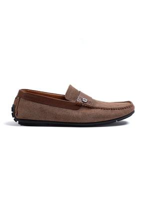 Hemington Erkek Logolu Kahverengi Süet Deri Ayakkabı