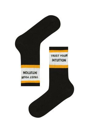Penti Erkek Siyah Cool Slogan Soket Çorap