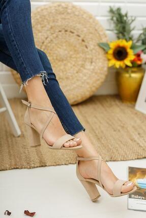 MUGGO Kadın Vizon Topuklu Ayakkabı Mglily03