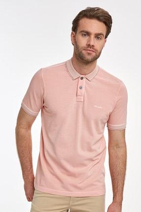 Hemington Erkek  Vintage Görünümlü Pembe Polo Yaka T-shirt