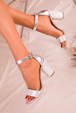 SOHO Gümüş Kadın Klasik Topuklu Ayakkabı 15925