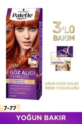 Palette Göz Alıcı Renkler Yoğun Bakır 7.77 Saç Boyası